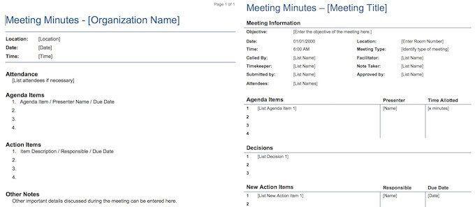 أفضل 15 دقيقة لقوالب الاجتماع لتوفير الوقت