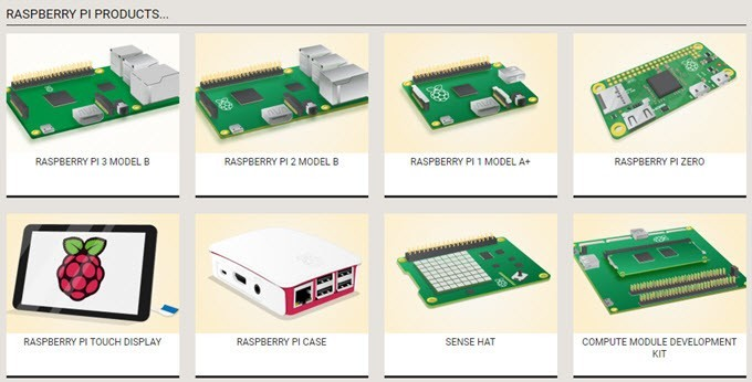 raspberry pi products