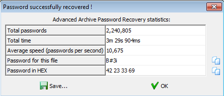 password recovered