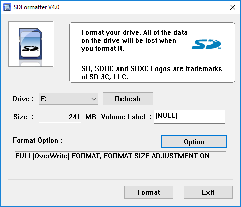 sf formatter options