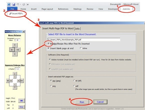 كيفية إدراج ملف Pdf في مستند Word